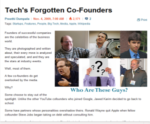 Forgetting Some of Tech's Forgotten Co-Founders